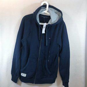 Tommy Hilfiger Zip Up Hoodie Sweatshirt Dark Blue